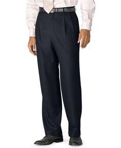LAUREN Ralph LAUREN Pants BLUE 38 34 Navy PLEATED Trouser CUFFED Total COMFORT W…