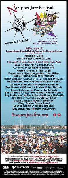 The first annual outdoor music festival in the USA Summer Is Here, Happy Summer, Freddy Cole, Newport Jazz Festival, Wayne Shorter, Dizzy Gillespie, Natalie Cole, Herbie Hancock