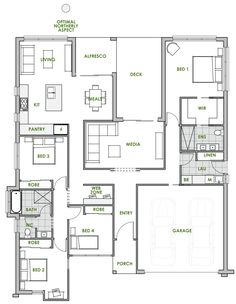 The St Clair offers the very best in energy efficient home design from Green Homes Australia. Take a look at the floor plan here.