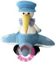 "Chantilly Lane 11""  Airborn Stork Baby Boy Sings ""Hush Little Baby"""