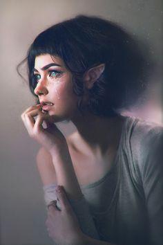 Mikandii {beautiful female alien portrait profile cropped digital photo manipulation} mikandii.com