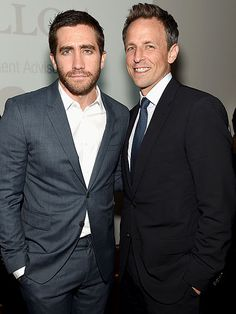 "Star Tracks: Thursday, October 2, 2014 | TWO FOR ONE | Seth Meyers and Jake Gyllenhaal are dashing dudes at the Headstrong Project ""Words of War"" benefit in New York City on Wednesday."