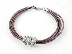 designer bracelets | ... designer silver designer fashion jewellery multi leather bracelet with