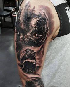 Tattoo Sleeve Designs, Tattoo Designs Men, Sleeve Tattoos, Left Arm Tattoos, Arm Band Tattoo, Tattoos For Guys, Cool Tattoos, Animal Tattoos For Men, Tatoos