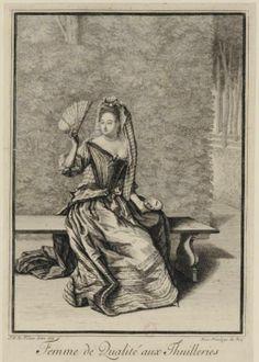 Jean Dieu de Saint-Jean (1654?-1695)- Femme de qualité aux Thuilleries, 1686 - Paris, Bibliothèque Nationale de France