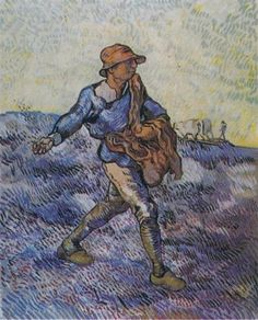 The Sower (after Millet) -Vincent van Gogh hand-painted oil painting reproduction,peasant working field fine art,dinning room wall art decor Art Van, Van Gogh Art, Van Gogh Pinturas, Vincent Van Gogh, Desenhos Van Gogh, Van Gogh Paintings, Canvas Paintings, Post Impressionism, Oil Painting Reproductions