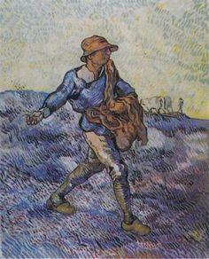 O semeador, 1890 [d'après Millet] Vincent van Gogh (Holanda, 1853-1890) óleo sobre tela, 80 x 66 cm Coleção Particular
