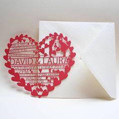 korttiin: Laser cut invites