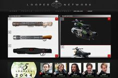 Screen shot from the LOOPER social online game