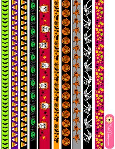 free printable washi tapes for Halloween