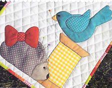 Spoolie Hedgehog  - pretty applique & pieced mini quilt PATTERN
