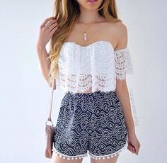 Cute shorts and crop top
