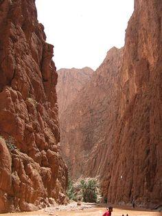 Gole-del-Todra, un canyon situato nella parte orientale dell'Alto Atlante