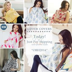Use code OBH2014 to buy these nursing covers for just the cost of Shipping and Handling!!   These make awesome baby shower gifts!