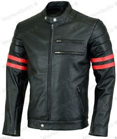 New Arrival Men Real Lambskin Motorcycle Premium Quality Leather Biker Jacket 77 #WesternOutfit #Motorcycle