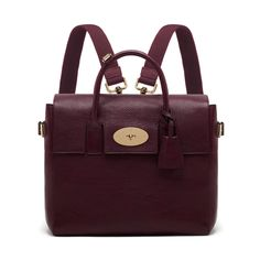 Mulberry Cara Delevingne Bag Oxblood Natural Leather