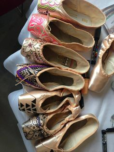 decorate old dance shoes and hang them around the studio - would be a fun tradition
