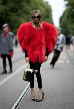 The best street style ever for Valentine's Day!