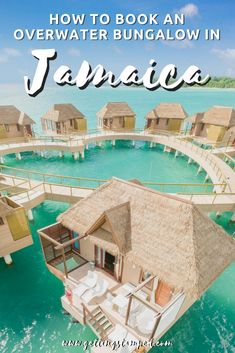 How to book an overwater bungalow in Jamaica. You no longer have to travel halfway around the world to stay in one of these bucket list over water villas. Adult only and all inclusive resorts, Sandals South Coast and Sandals Royal Caribbean are the Jamaica Honeymoon, All Inclusive Honeymoon, Jamaica Travel, Caribbean Vacations, All Inclusive Resorts, Hotels And Resorts, Caribbean Honeymoon, Jamaica Luxury Resorts, Caribbean Resort
