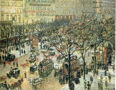 """Boulevard des Italiens Morning, Sunlight"", 1897. Camille Pizzarro."