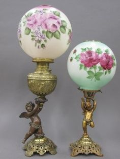 Cherub Lamp - Foter, FIGURAL PARLOR LAMPS with cherub bases
