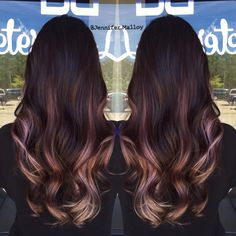 So beautiful! Brunette ombre with lilac pink blonde by Jennifer Malloy #hotonbeauty