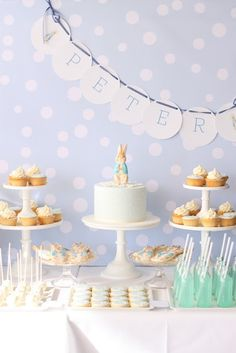 This was a Christening party... so sweet.
