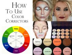 HOW TO USE COLOR CORRECTORS To find out how to neutralize a color, check the color wheel. Find the color you want to hide and use the opposite color in place. Color correctors and neutralizers are found in foundations, concealers, makeup bases and. Corrector Palette, Corrector Makeup, Green Eyes Pop, Makeup For Green Eyes, Makeup Color Wheel, Colour Wheel, Green Color Corrector, Color Correction Makeup, Makeup Tips