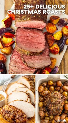 Dinner For A Crowd Main Dishes Meal Ideas - Jeannie Brinley - Dinner For A Crowd Main Dishes Meal Ideas Dinner For A Crowd Main Dishes Meal Ideas - Christmas Dinner For A Crowd, Christmas Main Dishes, Traditional Christmas Dinner, Christmas Roast, Christmas Lunch, Christmas Meal Ideas, Christmas Recipes, Merry Christmas, Christmas Goodies
