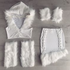 I feel like snow would wear this Halloween Ii, Halloween Party Costumes, Halloween Outfits, Eskimo Costume, Eskimo Halloween Costume, Rabbit Costume, Bunny Costume, Ice Queen Costume, Rave Costumes