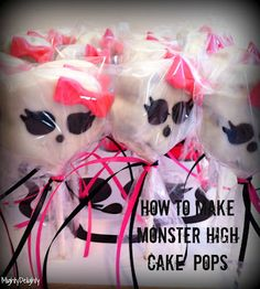 Awesome! How to make monster high cake pops! I may have to try this with Faith!