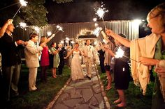 The Barn at Chesnut Hill High Point North Carolina wedding by Sadie Higs Photography .. southern country rustic barn wedding sparkler exit