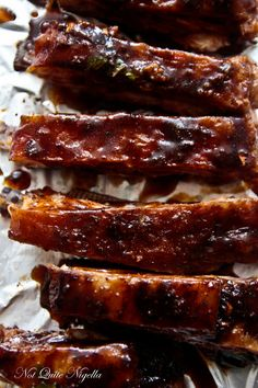 Sticky, Spicy Lamb Ribs @ Not Quite Nigella
