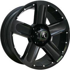 20x9 Black Remington High-Country 6x135 25 Wheels Couragia MT 33X12.5X20 Tires