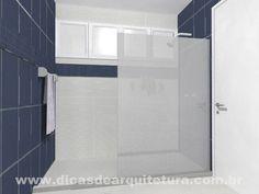 Box sem porta. Clean, elegante e econômico. http://dicasdearquitetura.com.br/tirei-banheira-banheiro-e-agora/