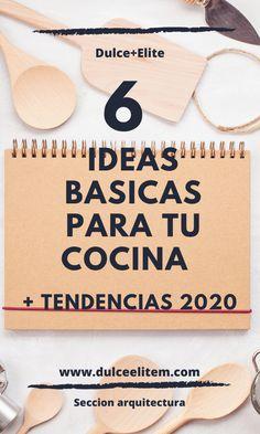 6 ideas basicas para tu cocina.#cocinapequeña#cocinasbonitas#cocinasintegralesmodernas#cocinaspequeñasybonitas#diseñodeislasparacocina#cocinasabiertas#cocinaspequeñasconbarra#desayuandor#tendencias2020encocinas#cocinasintegrales.