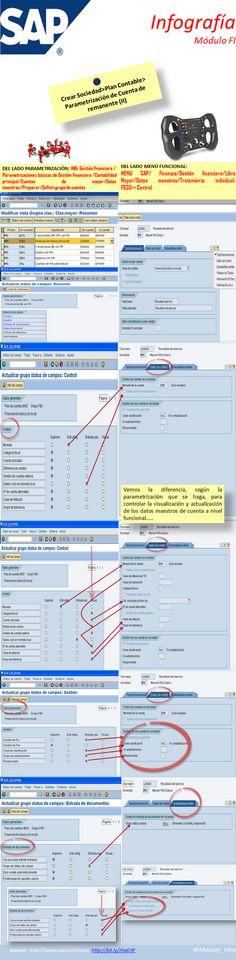 ⑪ #Infografía sobre #Sap-FI Parametrización de cuenta de Remanente (II)