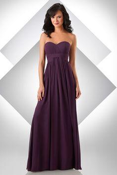 Bari Jay Strapless Long Bella Chiffon Bridesmaid Dress 332