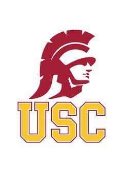 USC Trojans stencil logo - 10 mil mylar reusable pattern