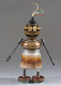Robot Sculpture  Metal art sculpture Junk by CastOfCharacters23, $125.00