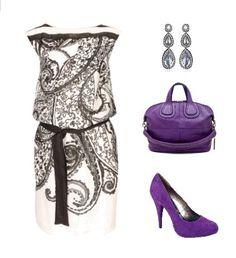 black, grey, purple