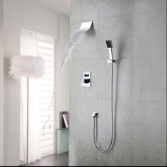 97.43$  Watch now - http://aliiet.worldwells.pw/go.php?t=1322028382 - BECOLA  shower flush shower set, 8 inch plastic shower head, romantic fashion, free shipping!BR-S80-B-2 97.43$