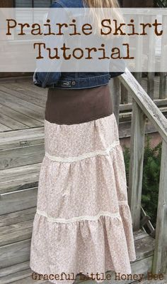 3 tiered Prarie skirt inspired by Sewing Video from Homestead Blessings