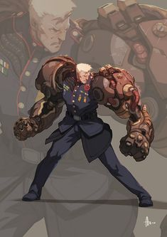 Dieselpunk -  --  can u just say Vi's dad from League of Legends lmfao