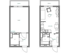 Дизайн квартиры-студии площадью 28 кв. м Studio Apartment Layout, Studio Layout, Small Apartment Design, Small Apartments, Social Housing Architecture, T2 T3, Student Room, Container House Design, Apartment Plans