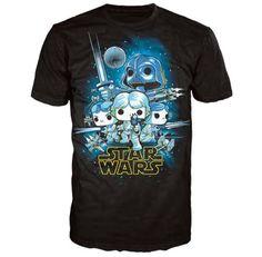 Star Wars A New Hope Poster Pop! T Shirt Black #StarWars #tshirt #fanstuff