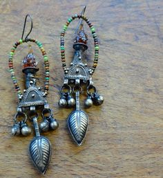 Tribal root beer earrings dangle by pipnmolly on Etsy