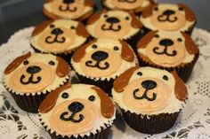 Puppy dog cupcakes - I might actually be able to make these.