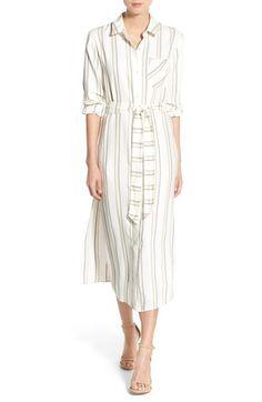 Olivia Palermo + Chelsea28 Stripe Midi Shirtdress | Nordstrom