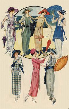 Jazz Age Summer Beach Shore Wear Flapper Fashion